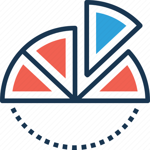 data, data visualization, pie graph, storage, visualization icon