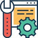 coding, cog, maintenance, preferences, spanner icon