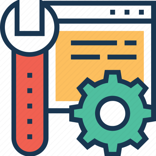 coding, cog, maintenance, preferences, spanner icon
