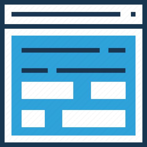 development, layout, web grid, website, wireframe icon