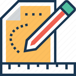 blueprint, composing, design, geometry, pencil icon