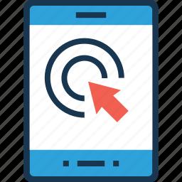 click, hand gesture, press, smartphone, touchscreen icon