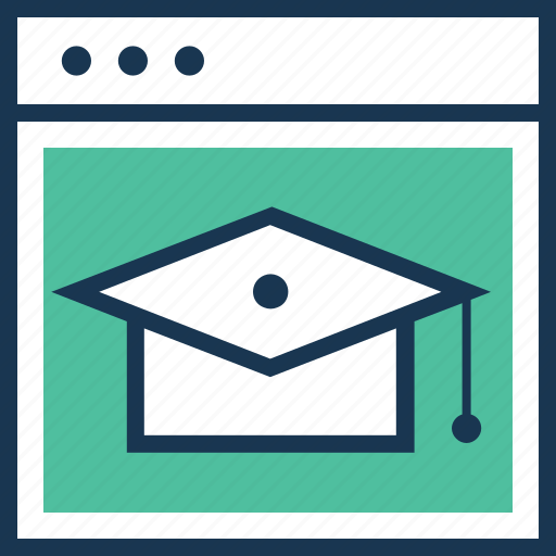 e learning, graduation, online education, online study, study icon