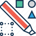 design, drawing, expand, marker, tools icon
