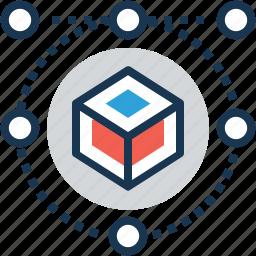 cube, graphic, logo design, shape icon