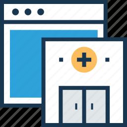 building, health, medical, webpage, website icon