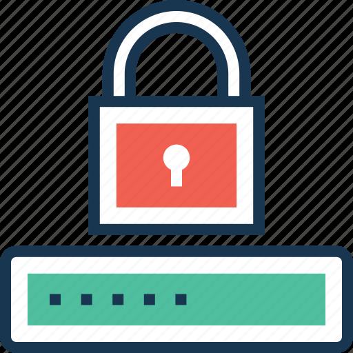 access, lock, login, padlock, password icon
