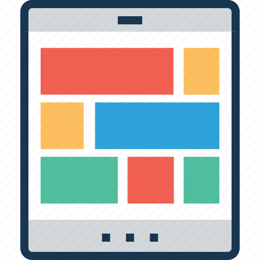 app, app layout, layout, menu, mobile layout icon