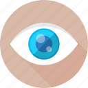 eye, look, monitoring, see, visual icon