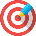 dartboard, drawing, goal, pencil, target icon