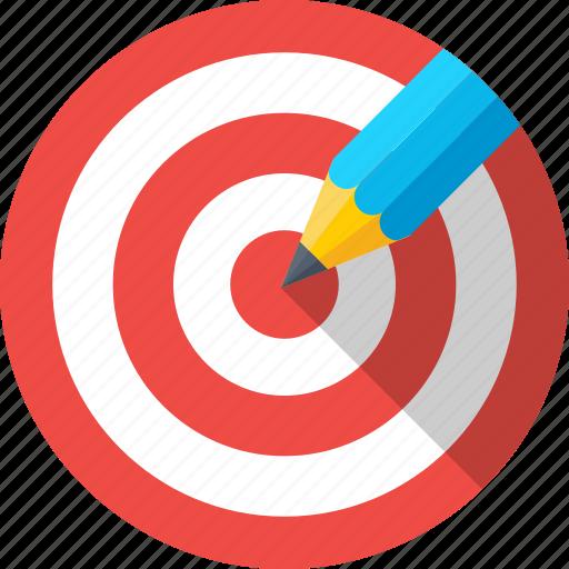 dartboard, drawing, goal, pencil, target icon