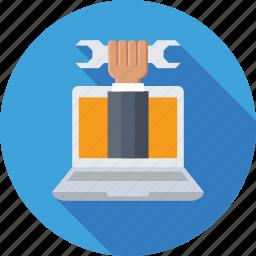customer service, development, repair, spanner, technical service icon