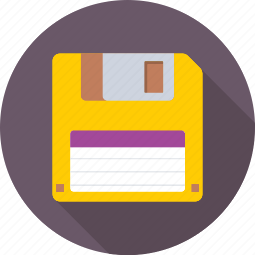 disk, diskette, floppy, floppy drive, storage icon