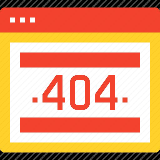 404, browser, error, internet, page, web, website icon
