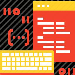 app, application, coding, development, keyboard, program, software icon