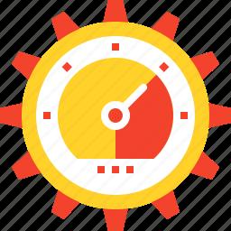 cogwheel, optimization, performance, seo, settings, speed, web icon