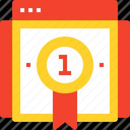 badge, page, rank, ranking, reputation, seo, web icon