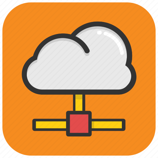 cloud computing, communication, network access, network hosting, network sharing icon