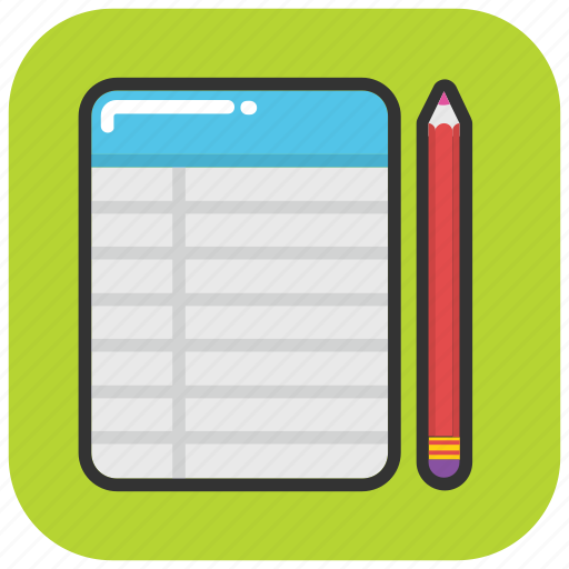 notepad, paper pad, scratch pad, scratch paper, scribble pad icon