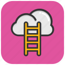 success ladder, competition concept, cloud stairway, cloud ladder, ladder to cloud