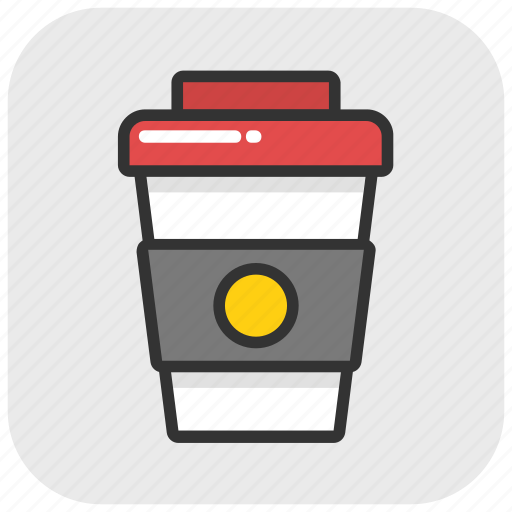 coffee, coffee cup, disposable cup, paper cup, take away icon