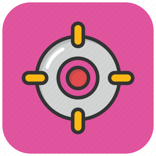 crosshair, focus, gunsight, sniper sight, target icon