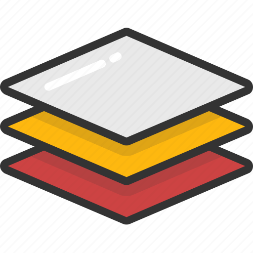 design, graphics, layers, photoshop, stack icon