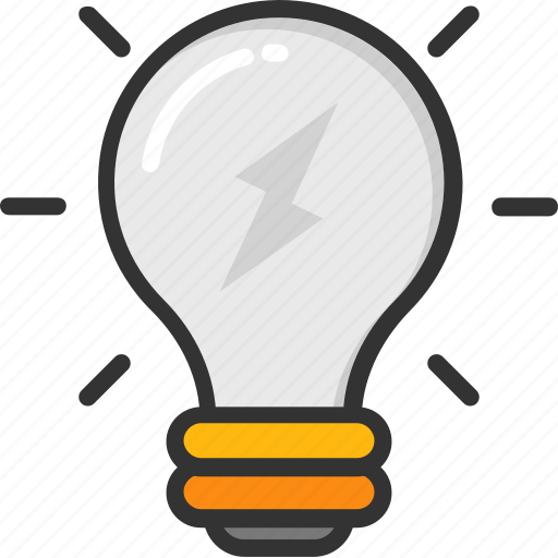 bulb, electric light, idea, incandescent, light bulb icon