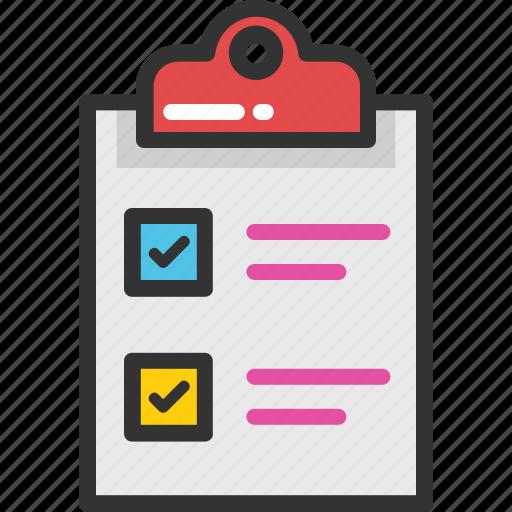 Checklist, list, schedule, to do, work plan icon  Checklist, list...