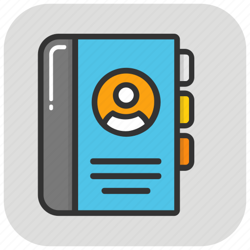 address book, contacts book, phone book, phone directory, yellow pages icon