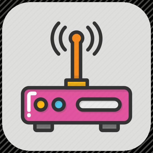 internet device, internet modem, modem, router, wlan icon