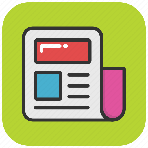 journal, news article, newsletter, newspaper, publication icon