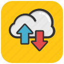 cloud arrows, cloud computing, cloud stock, data storage, icloud icon