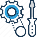 cogwheel, preferences, screwdriver, service, tools icon