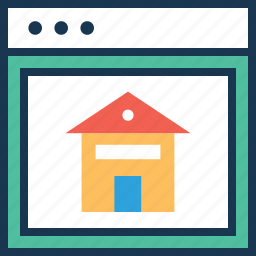 building, estate, homepage, real, real estate icon