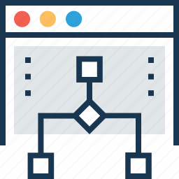 hierarchy, sitemap, structure, web, workflow icon