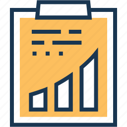 bar, clipboard, graph, project, report icon