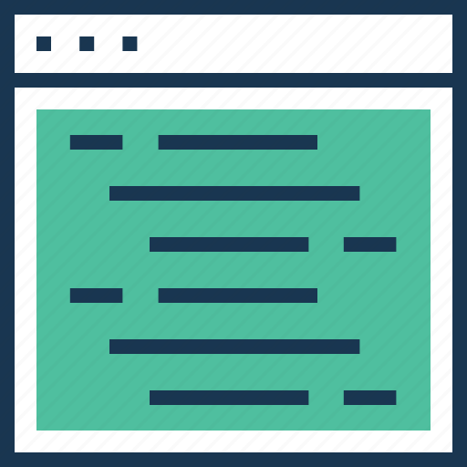 coding, content, programming, source code, web development icon