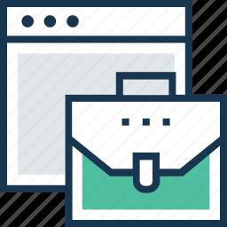 briefcase, case, online portfolio, portfolio, web icon