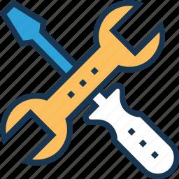 maintenance, repair, screwdriver, service, spanner icon