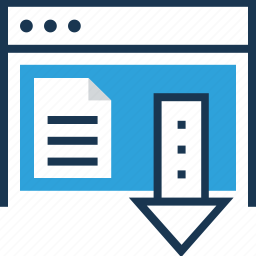 documents, file, landing page, page, web page icon