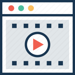 media player, music player, streaming, video, video player icon