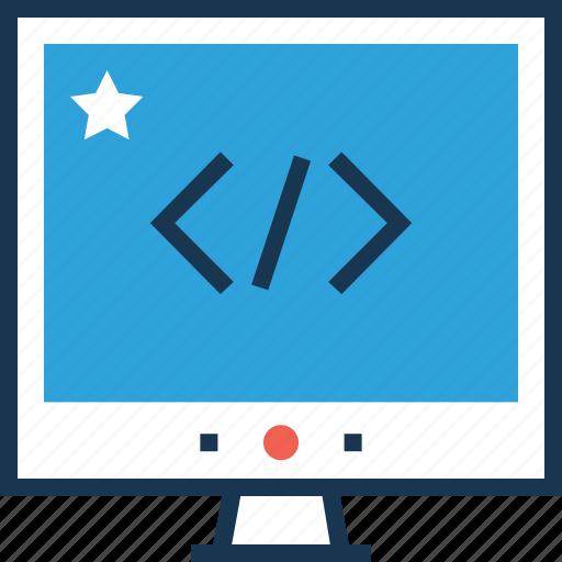 coding, div, html coding, programming, web development icon
