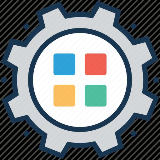 application, configure, layout, mobile optimization, preferences icon