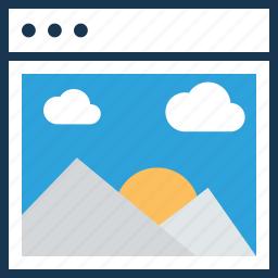 landscape, layout, photography web, web, web layout icon