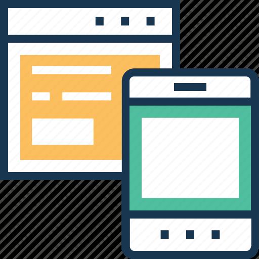 adaptive, devices, mobile, responsive, web icon