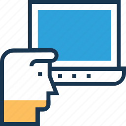 experience, laptop, user, user experience, web icon