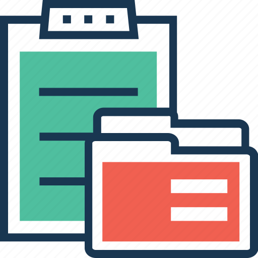 clipboard, document, file, material, project documents icon