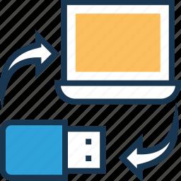 data, data sync, storage, sync, transfer icon