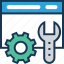 configure, development, settings, spanner, website icon